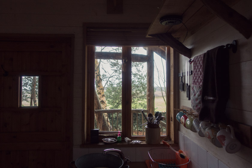 Wood cabin interior
