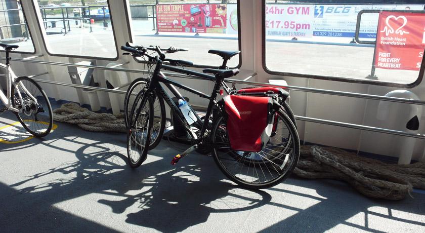 Bikes on Gosport Ferry