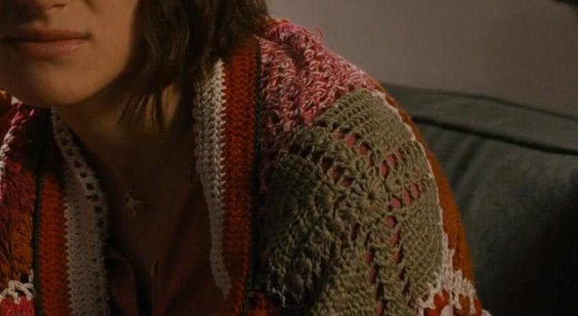 Green crochet round