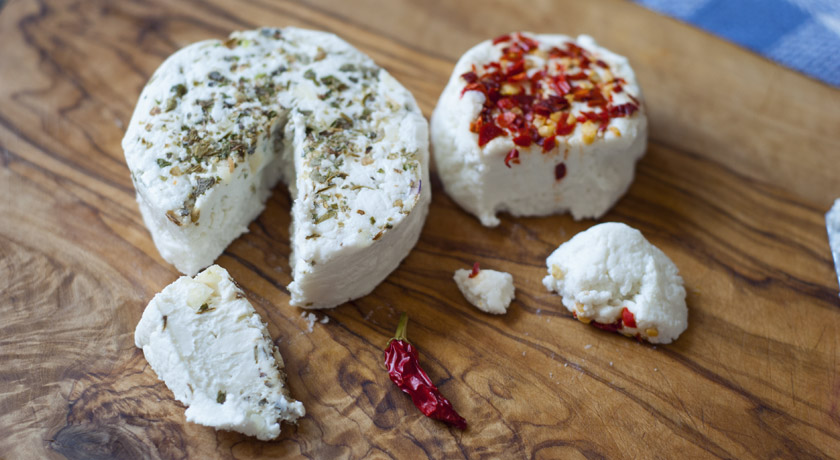 Cheese board - flavoured goats cheese