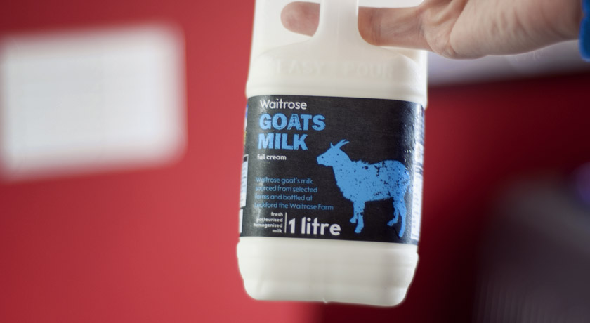 Full fat goats milk