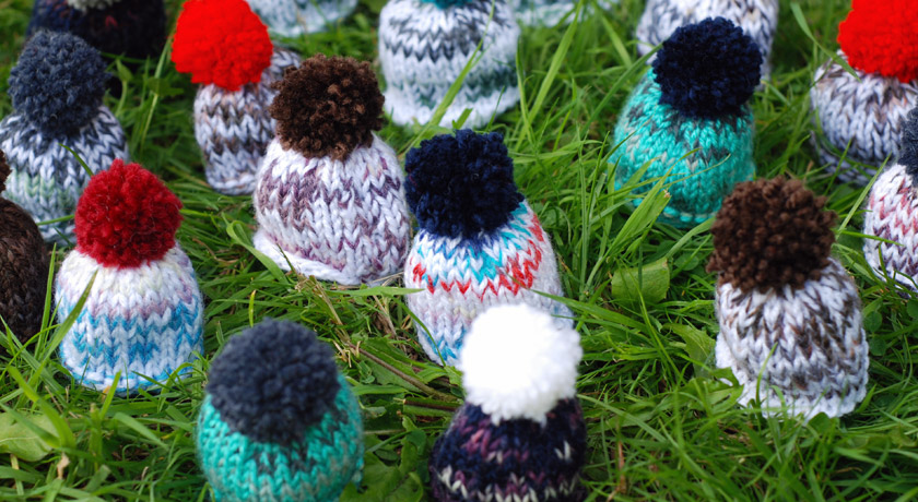 Innocent smoothie hats for Big Knit 2013