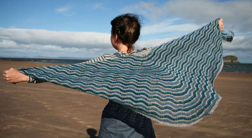 Northmavine Hap by Kate Davies