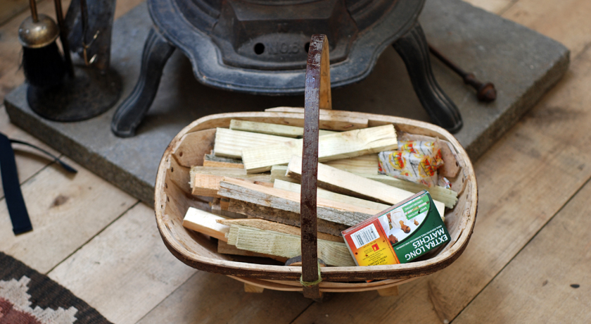 Trug of kindling