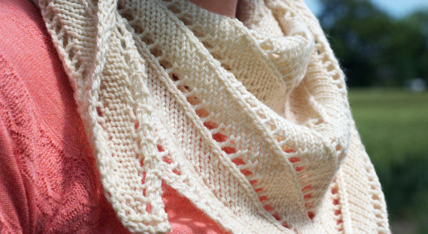 Knitted scarf closeup