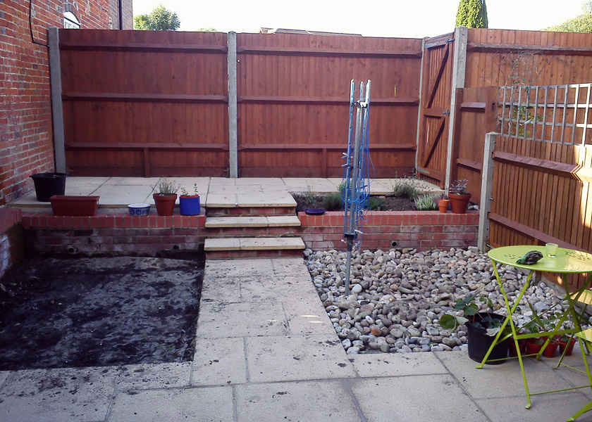 Back garden work in progress