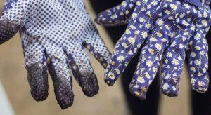 Floral gardening gloves