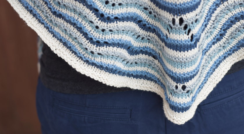 Northmavine Hap stitch detail