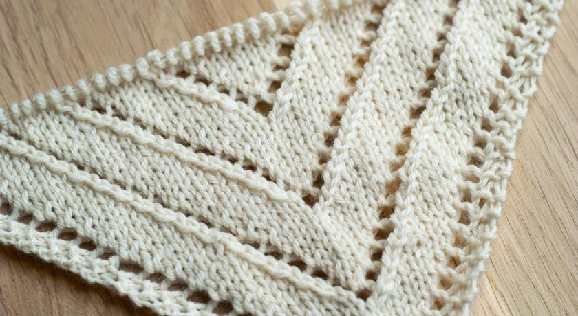 Cream triangle scarf