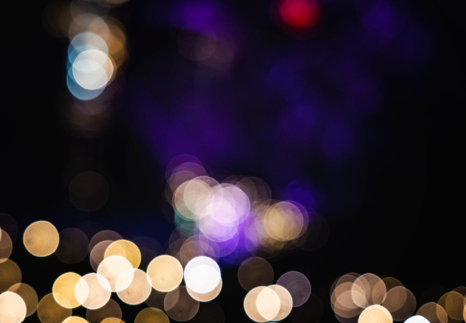 Blurred colourful lights