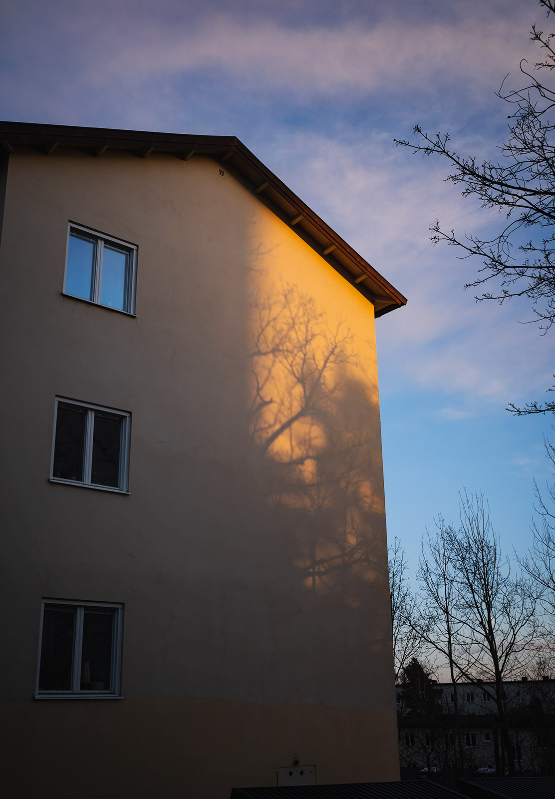 Brand silhouette on building