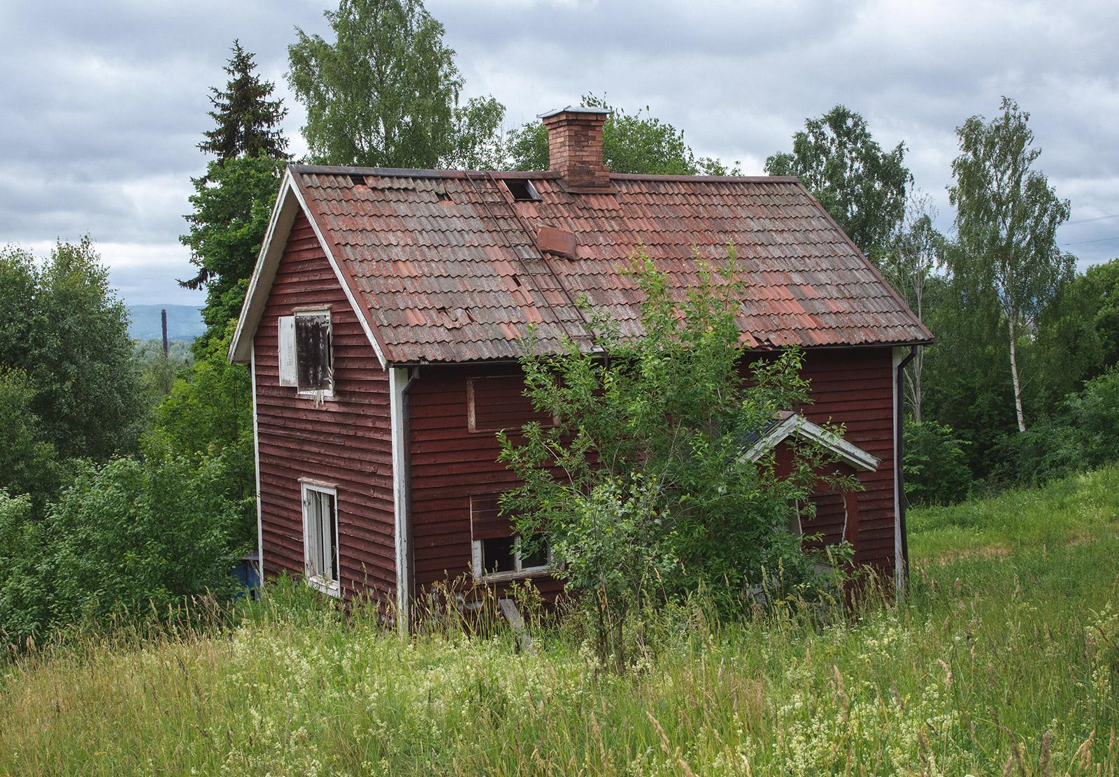 Run down wooden house