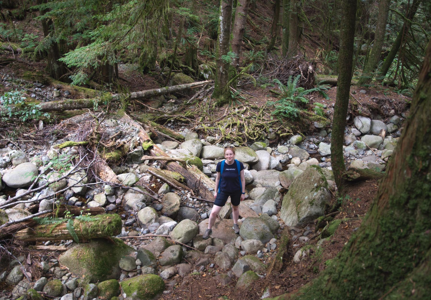 Standing amongst rocks