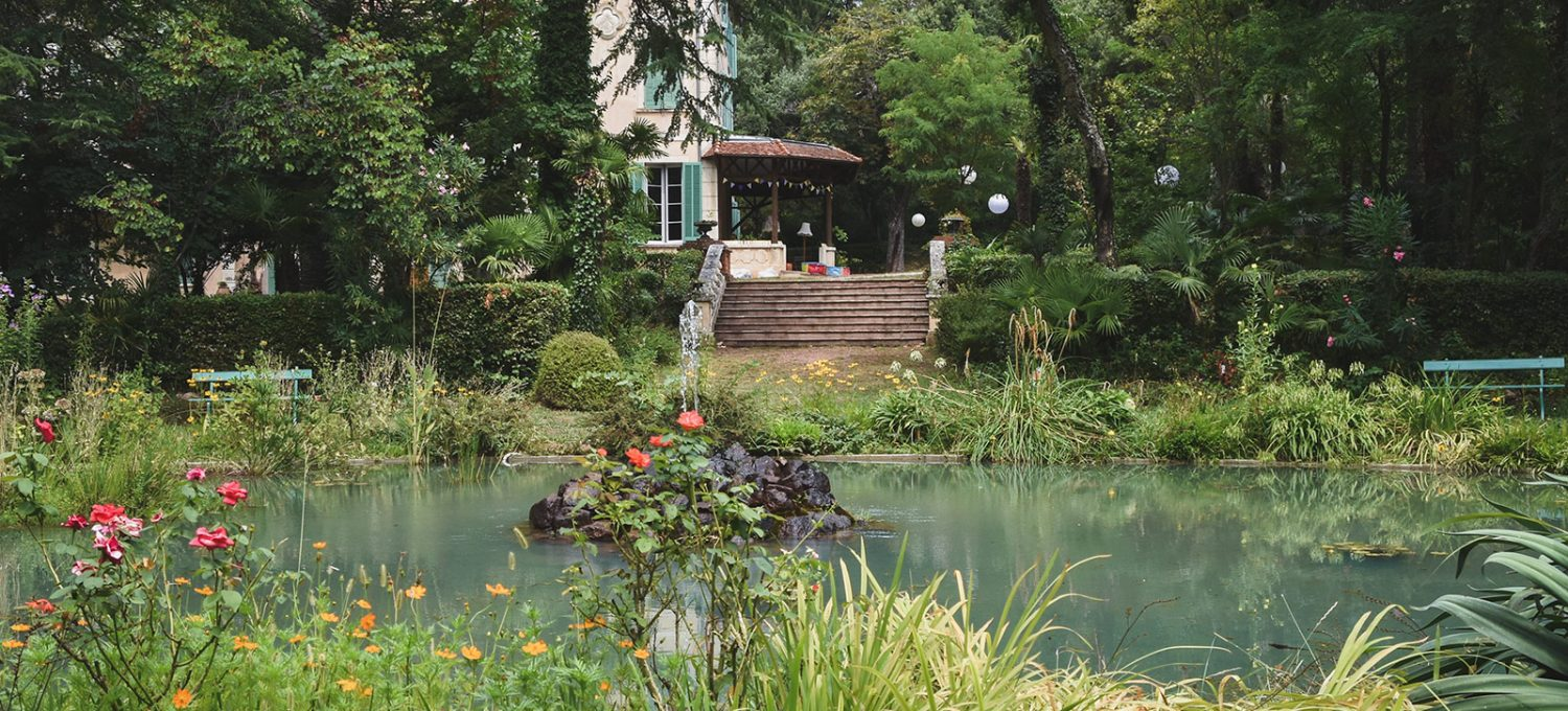 View over pond