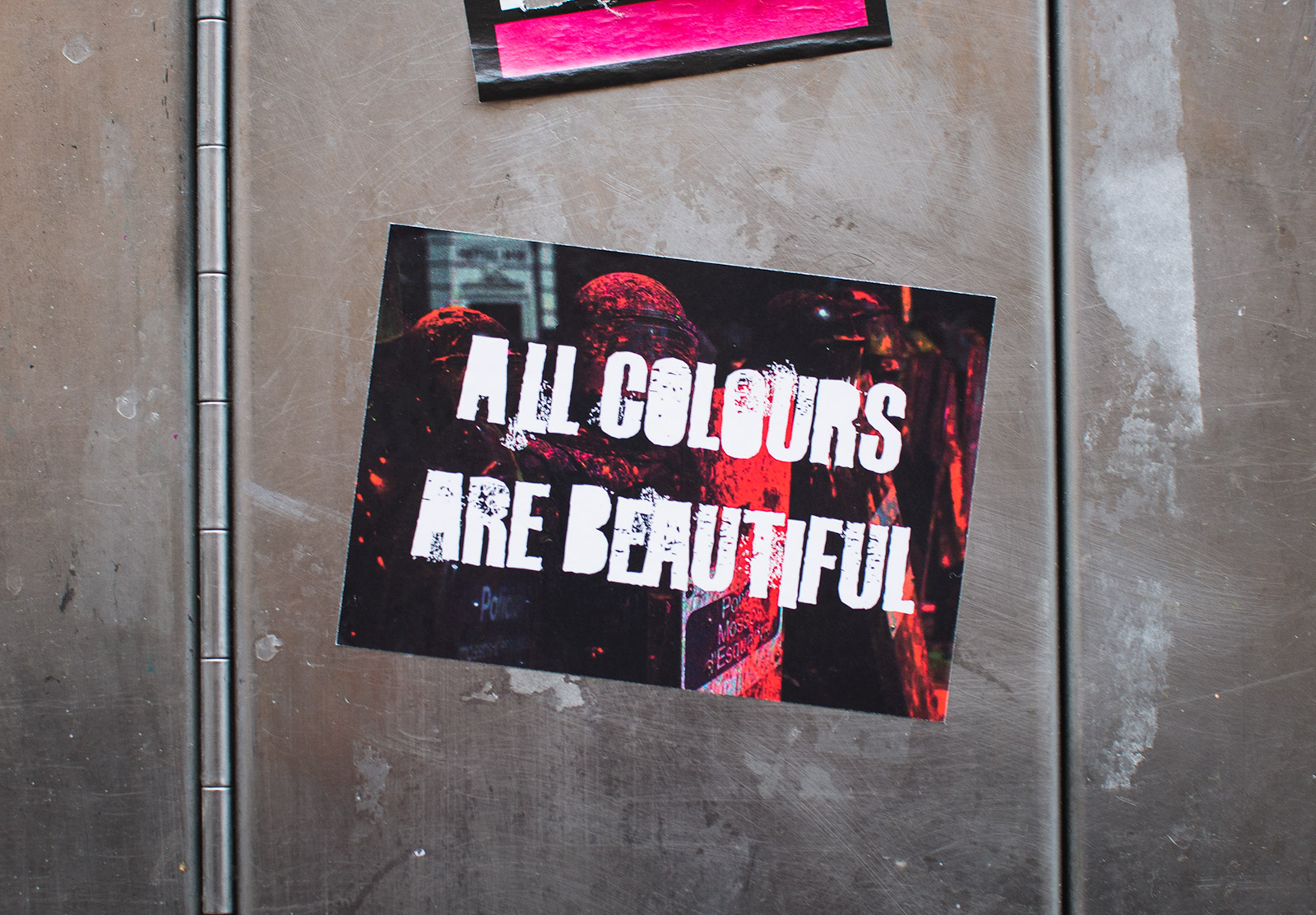 All colours are beautiful sticker