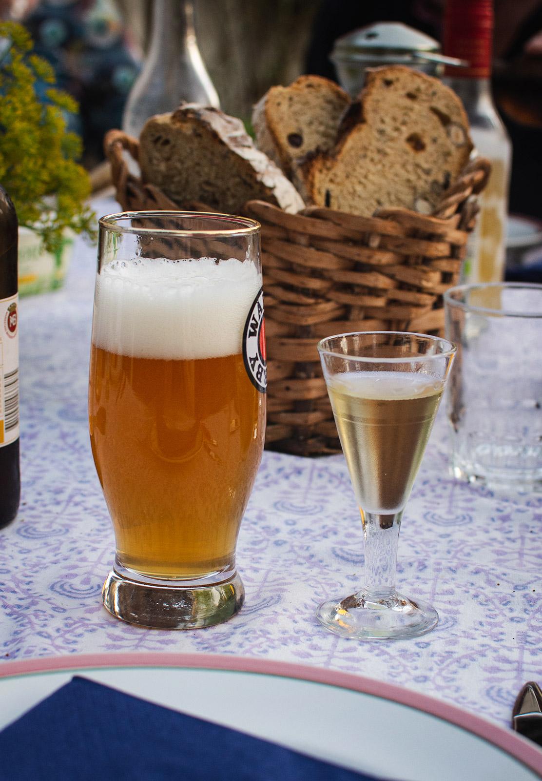 Beer and schnapps