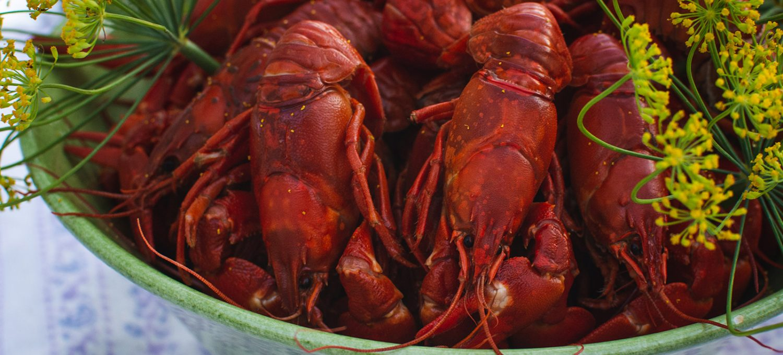 Bowl of crayfish