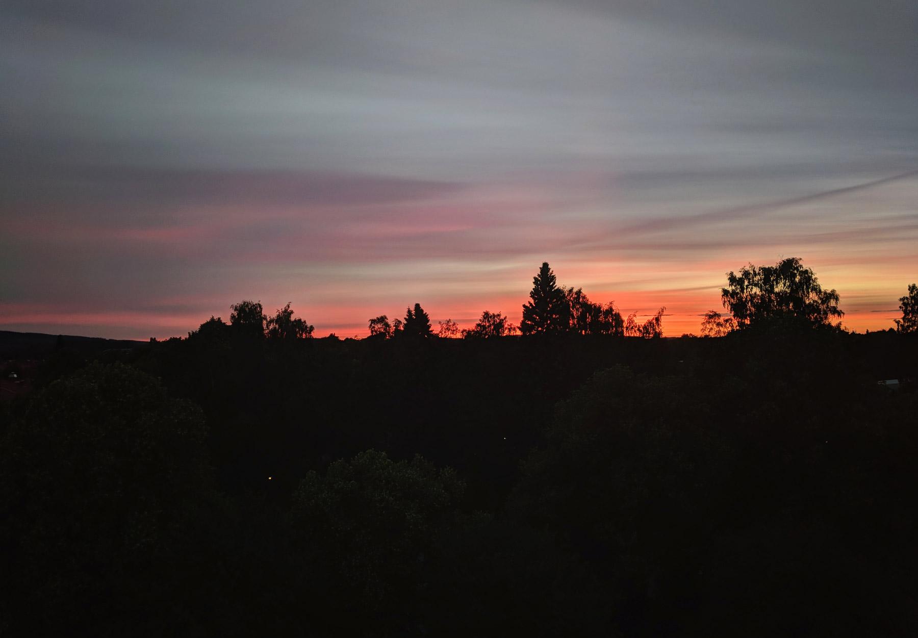 Pink and orange sky