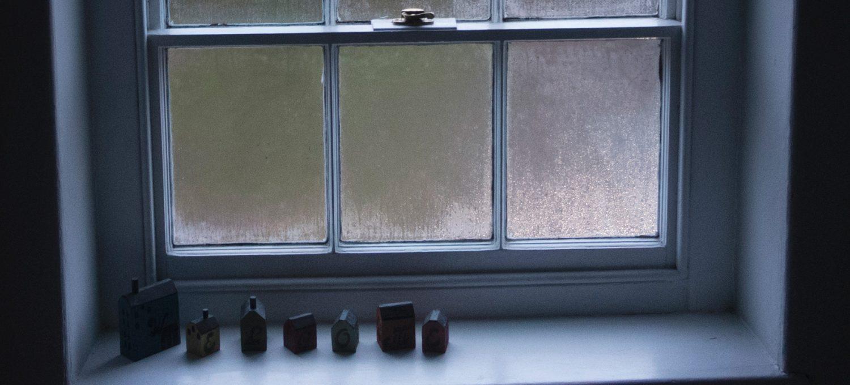Dark and misty window