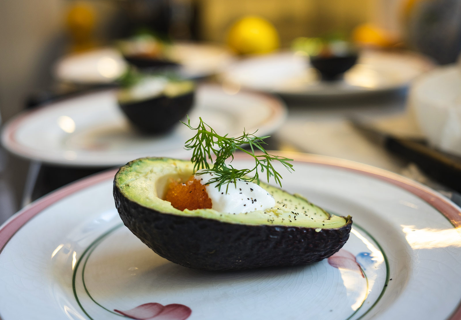 Dill topped avocado