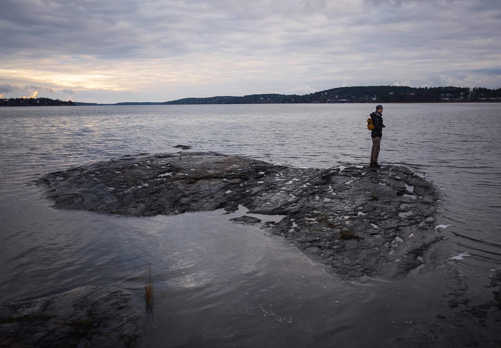 Me stood on a rock