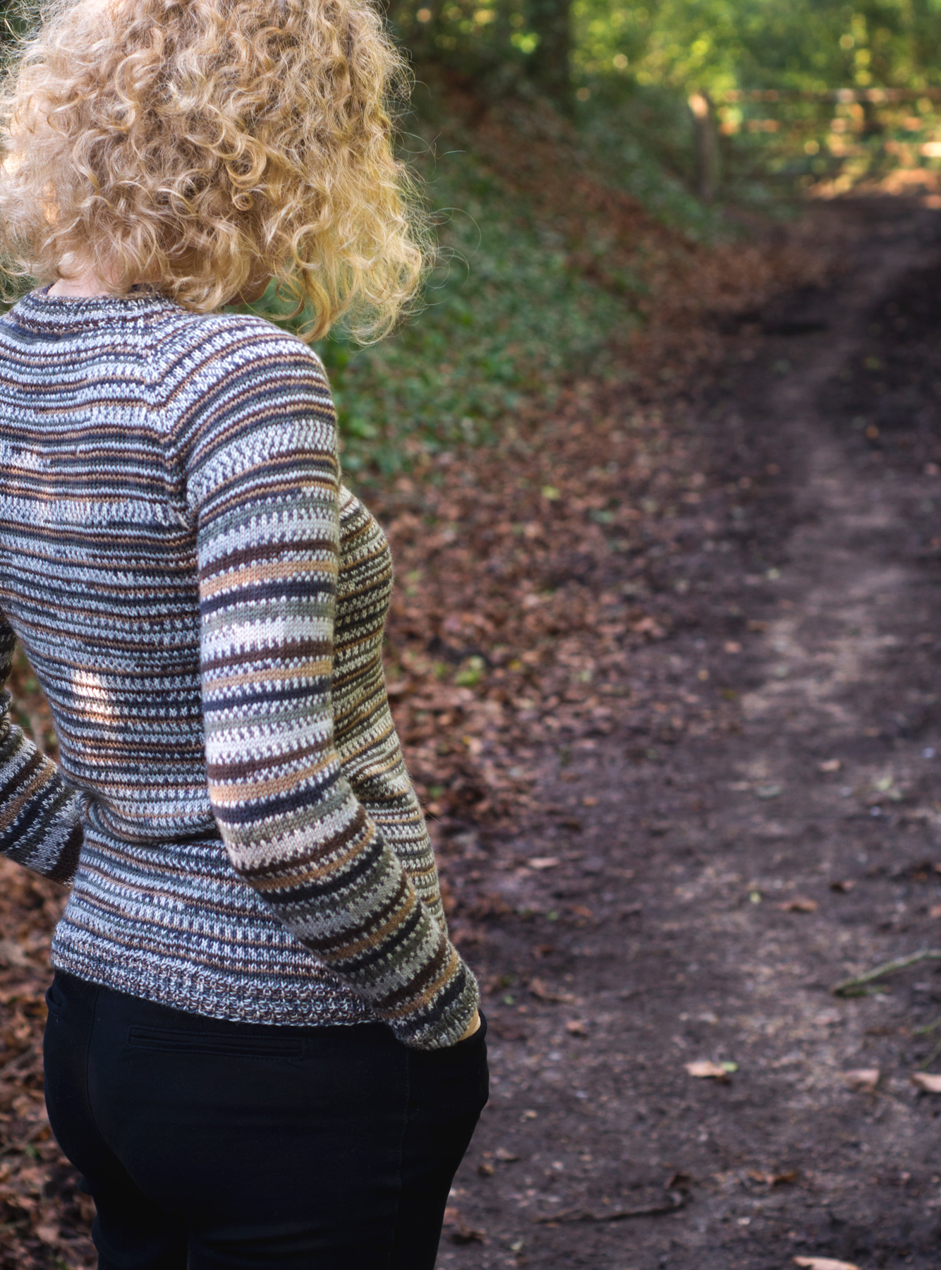 Back of knitted jumper
