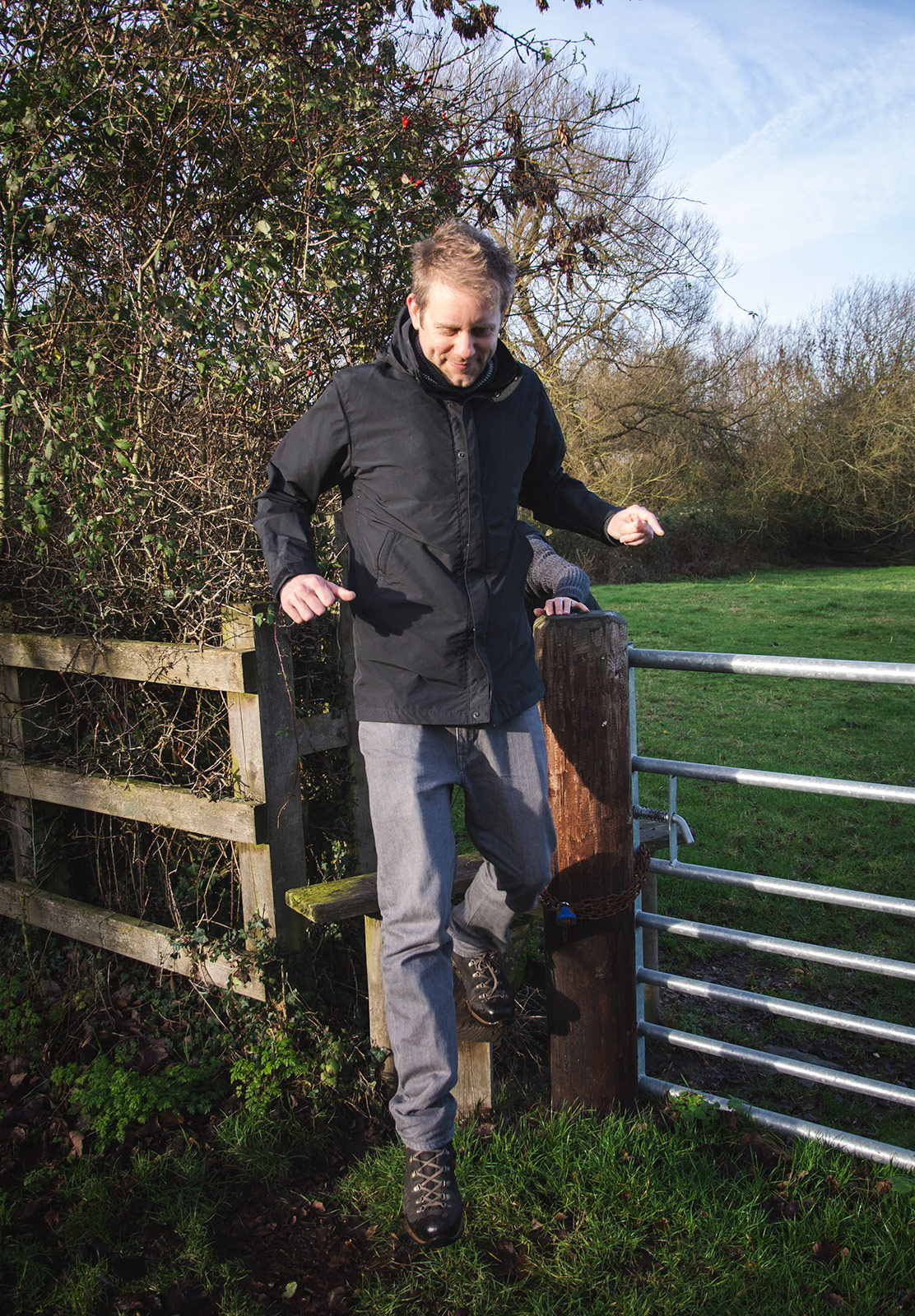 Stepping off stile