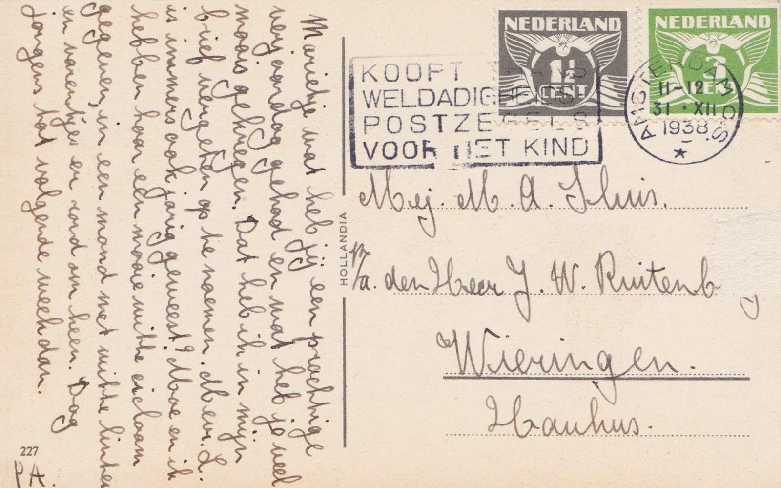 Handwriting and stamps