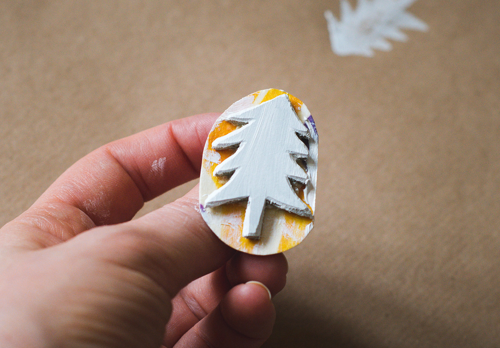 Painted tree stamp