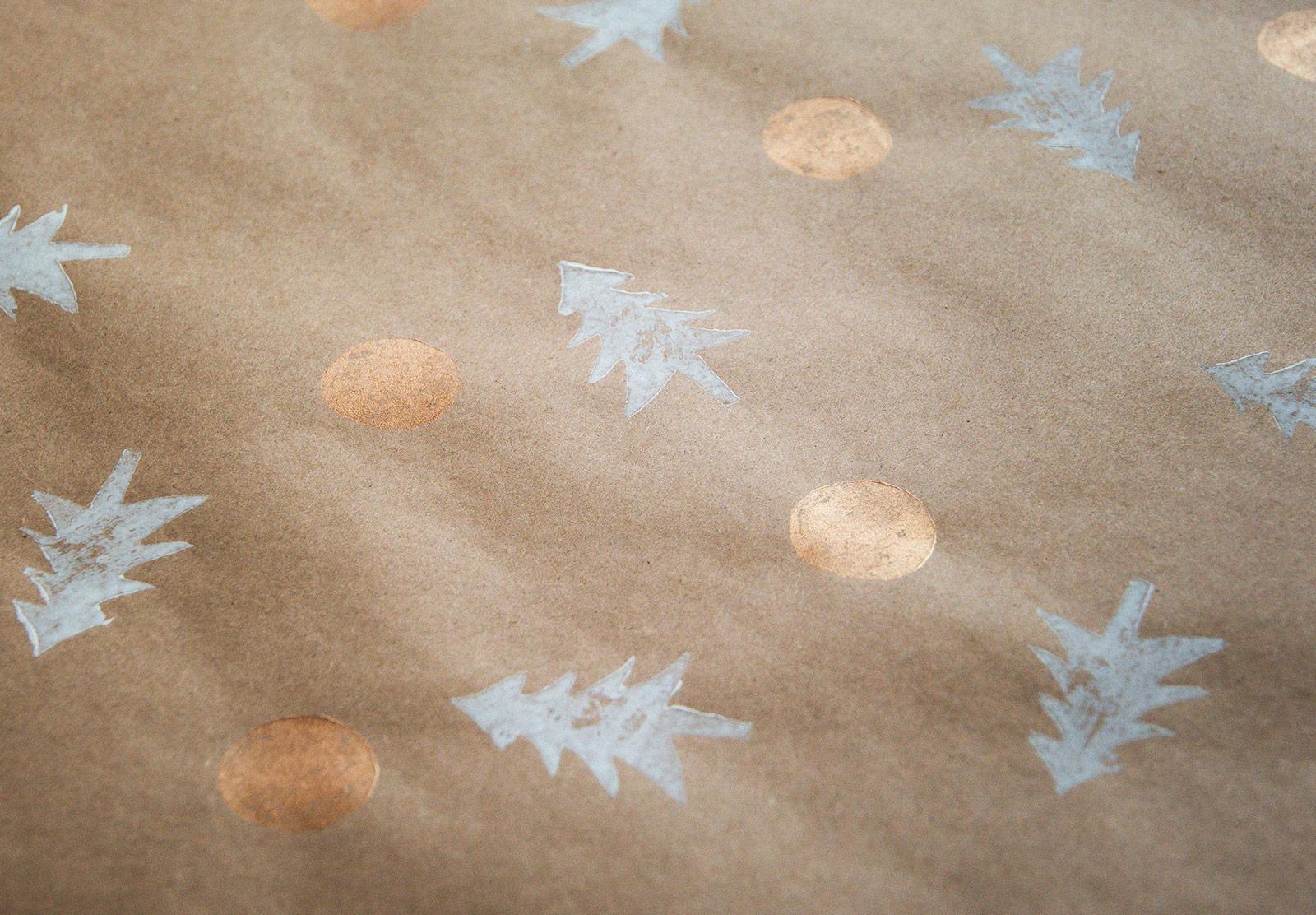 Closeup of Christmas wrap