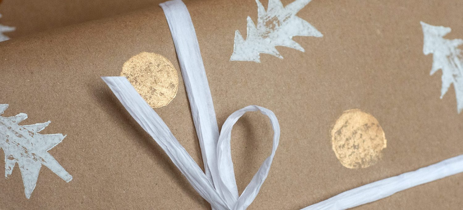 Closeup of paper bow
