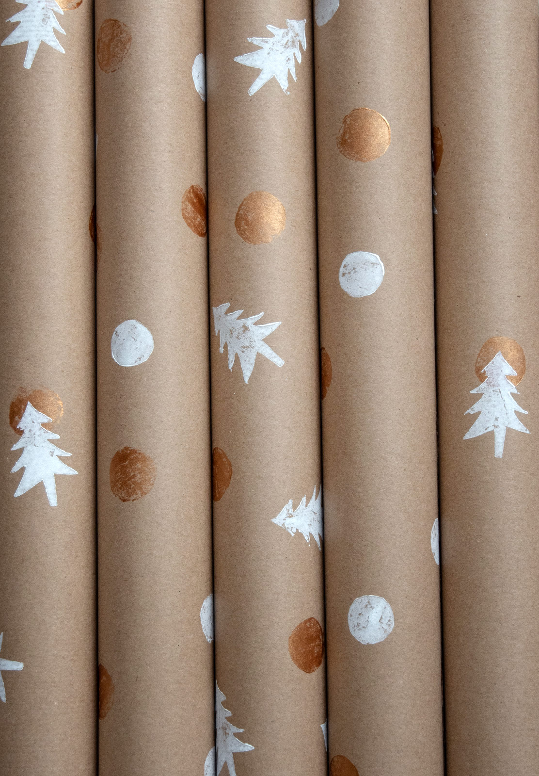 Rolls of Christmas wrap