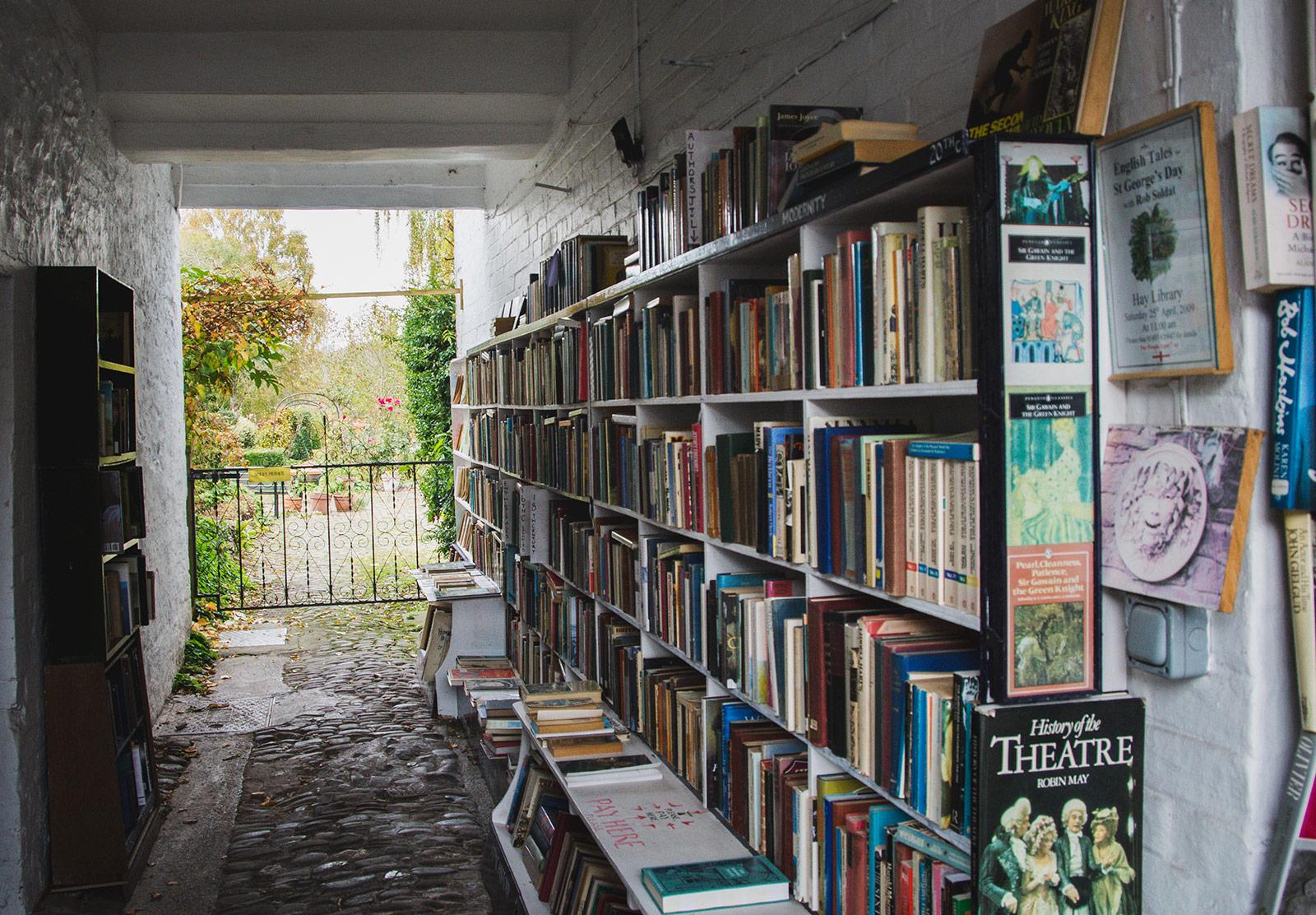 Books in passageway