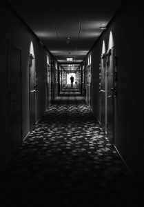 Light at the end of a hallway