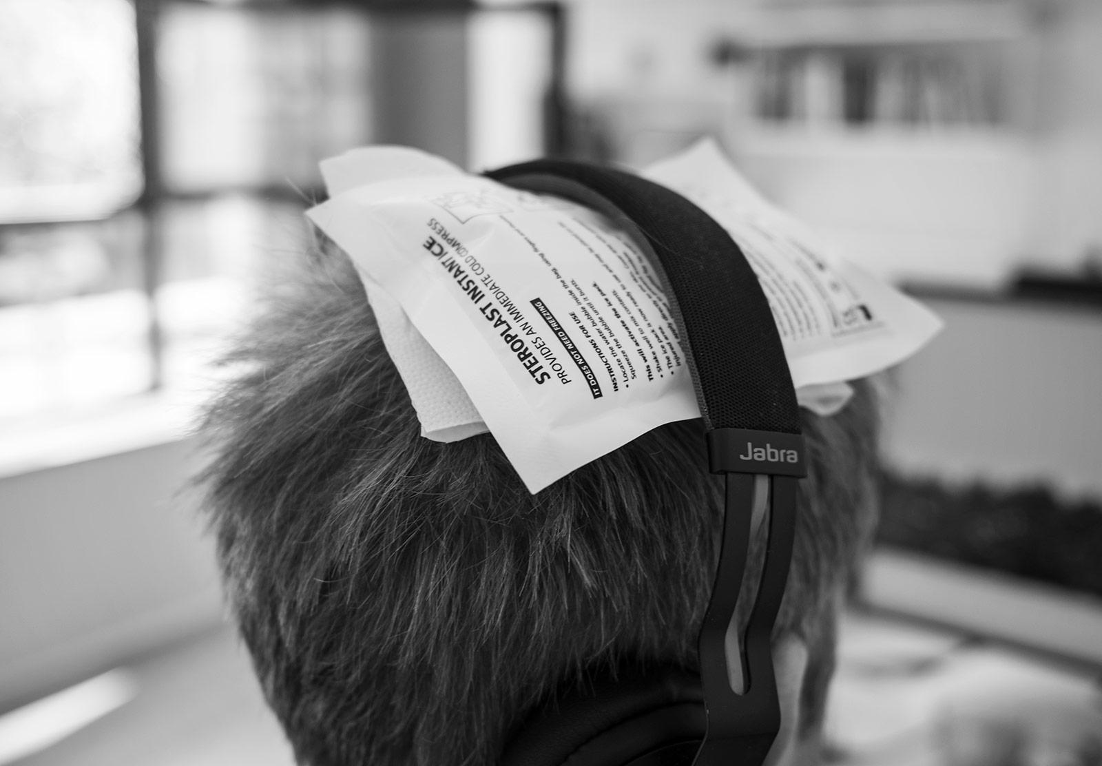Icepack on head