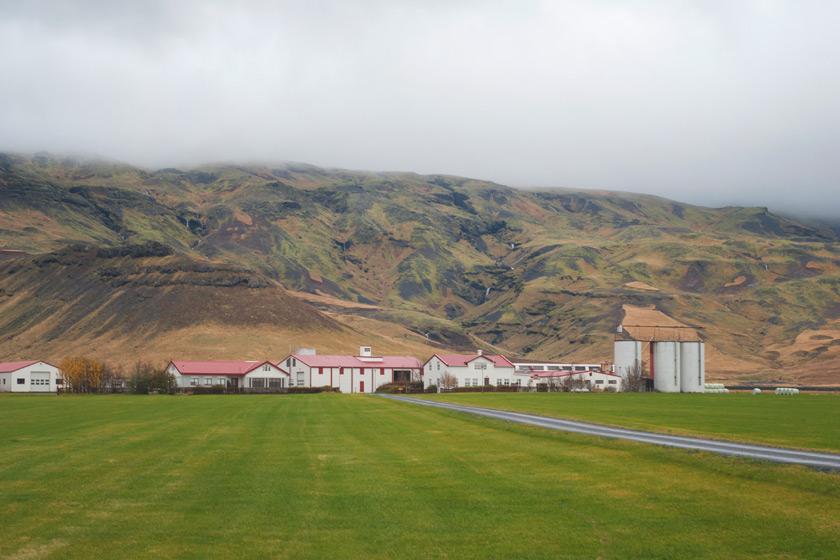 Farm with mountains