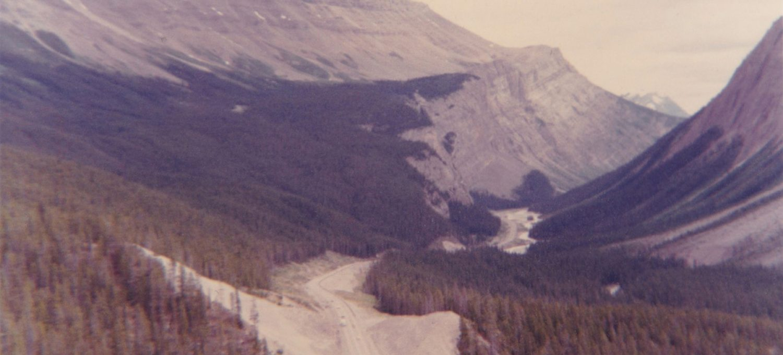 Road cutting through mountains