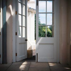 Wooden doorway
