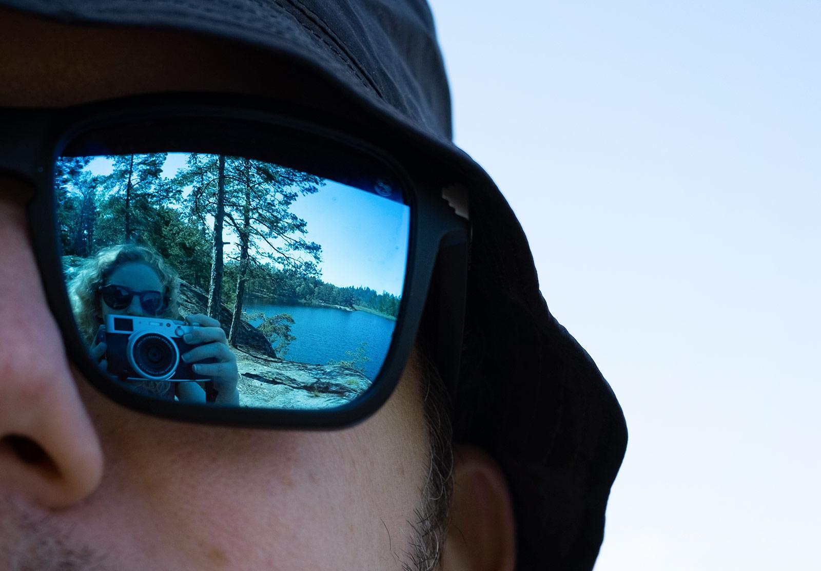 Lake in sunglasses