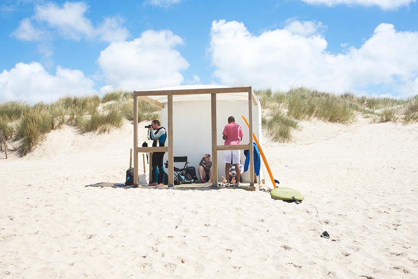 Shelter on beach