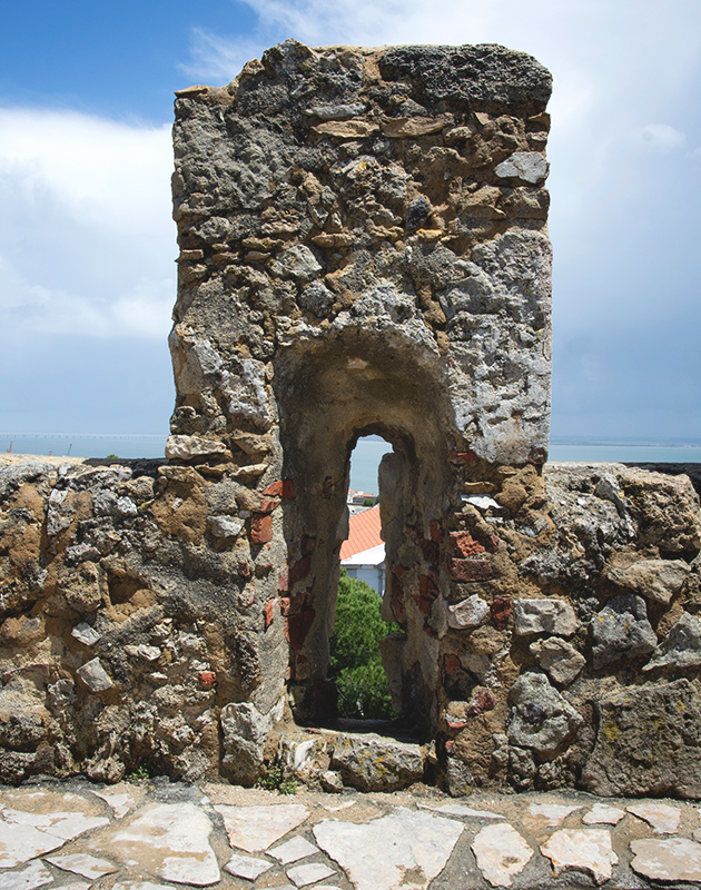 View through stone wall