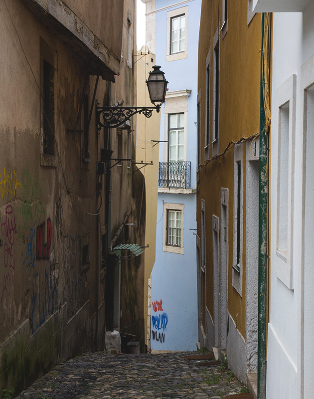Steep, narrow street