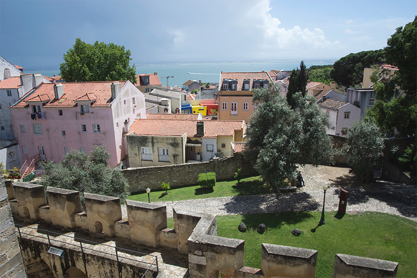 View over buildings