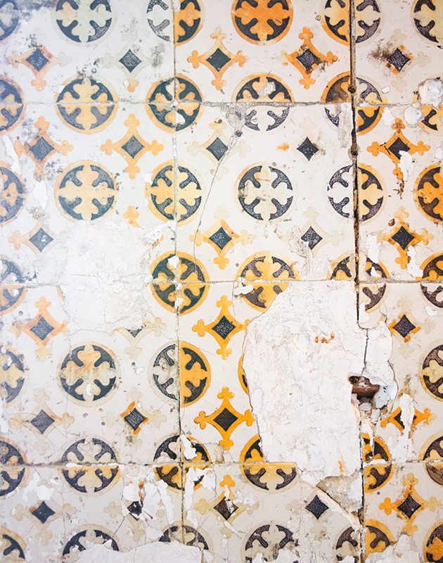 Worn tiles