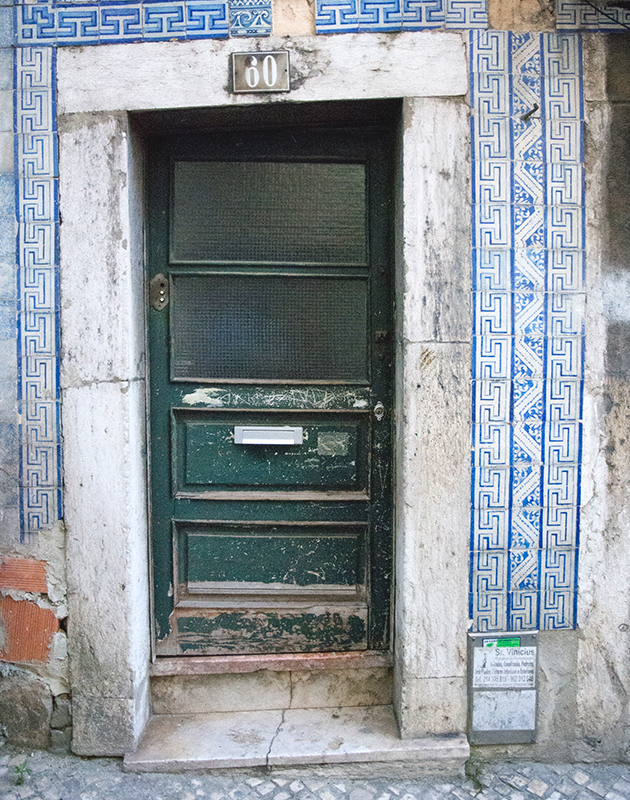 Neglected tiled doorway