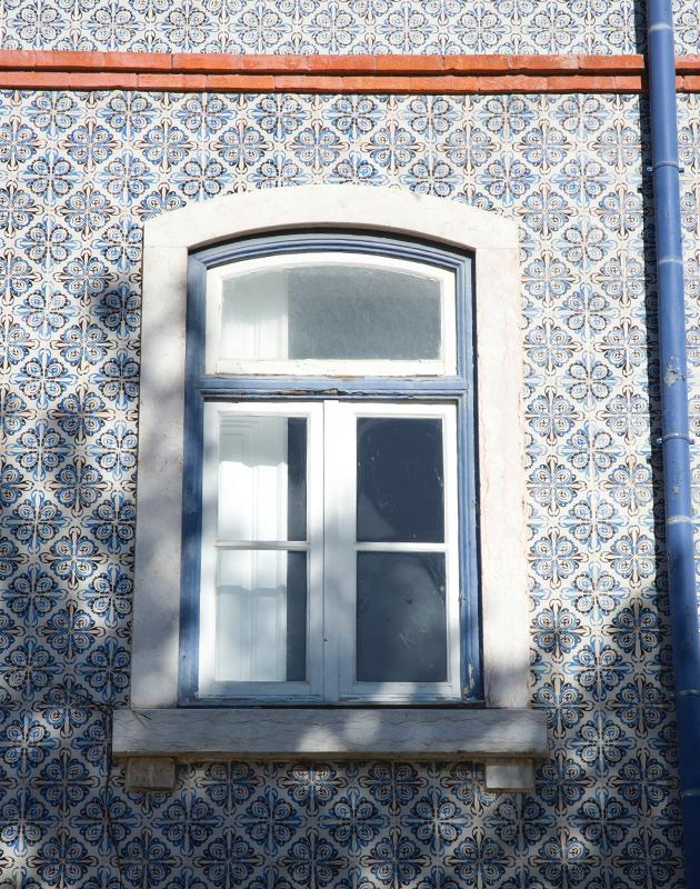Tiled building front