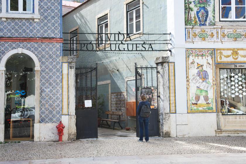 Tiled shops