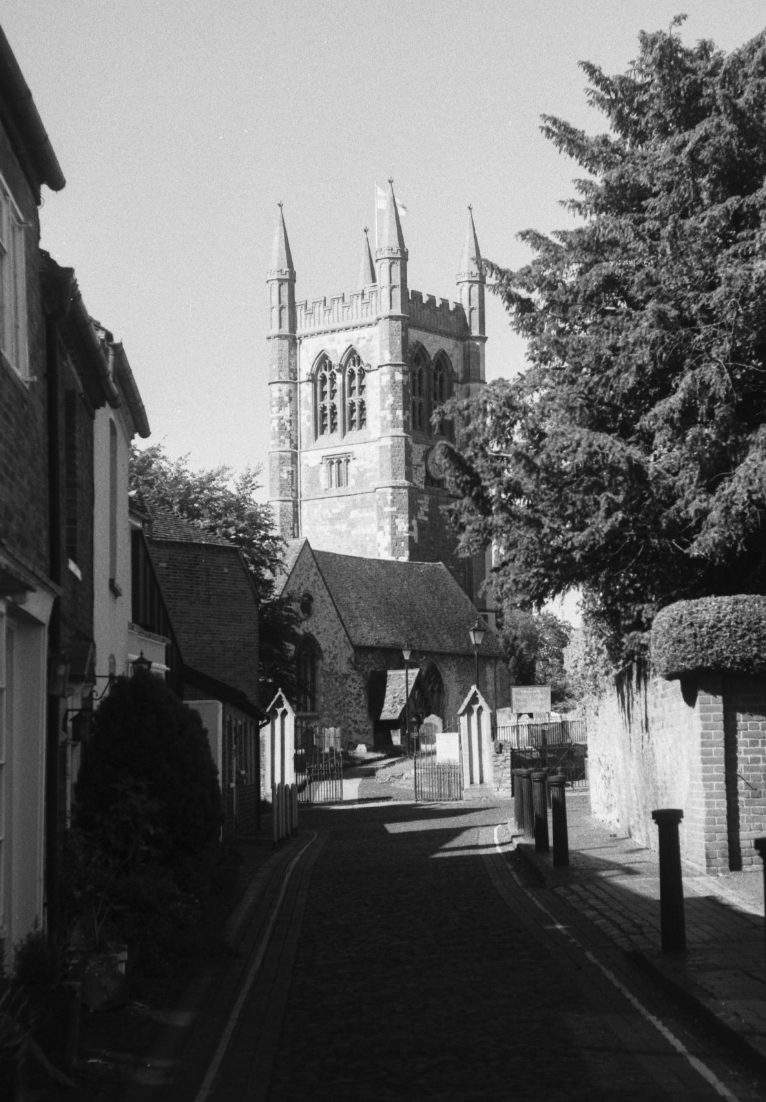 Church at end of street