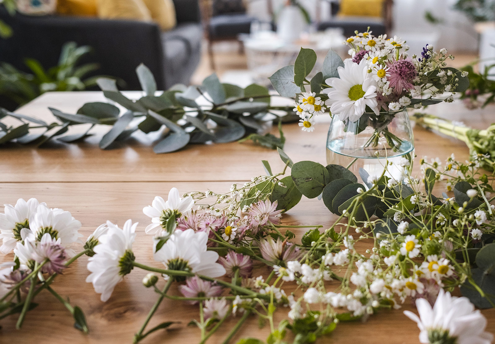Flowering on a table