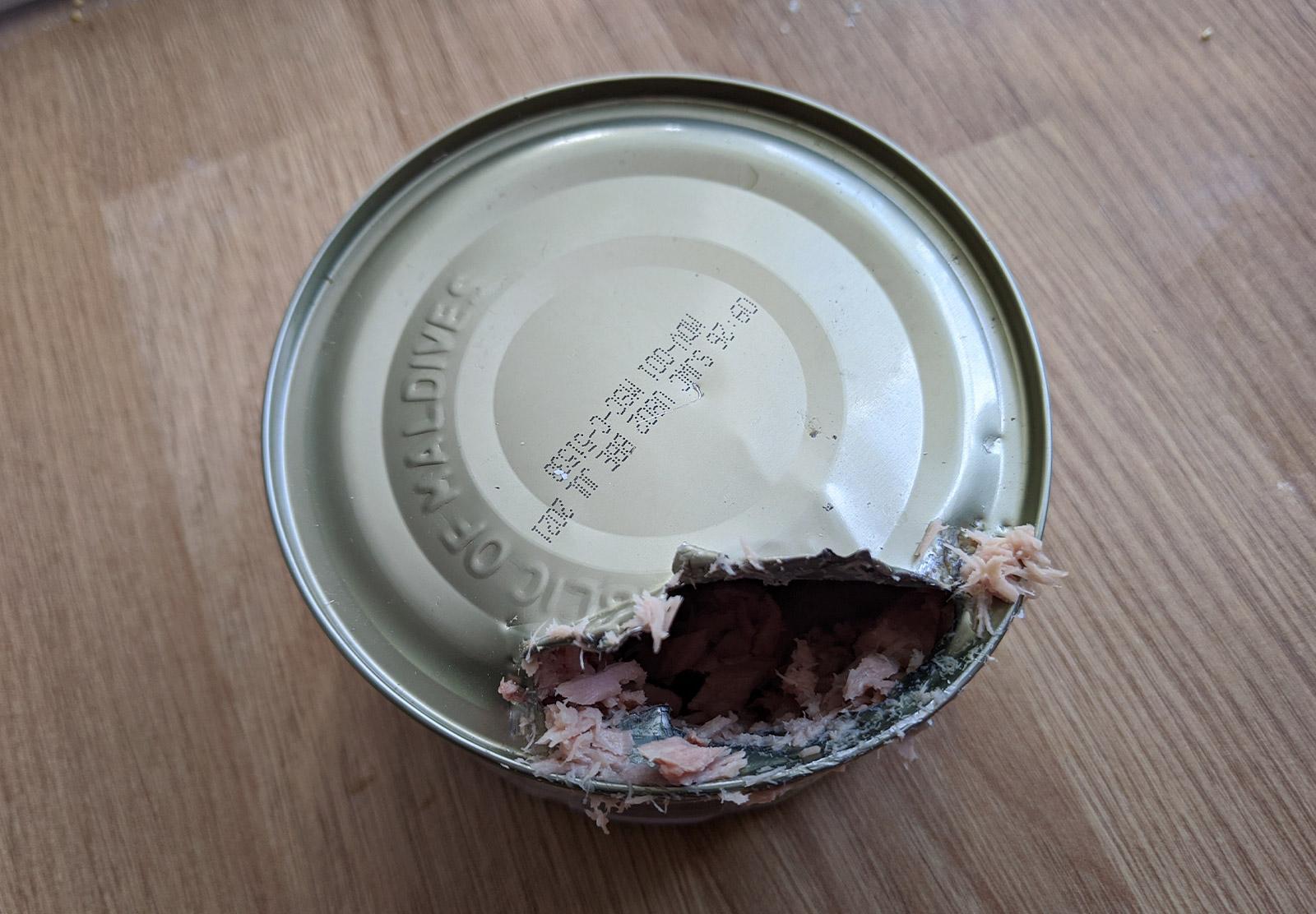 Tin of tuna